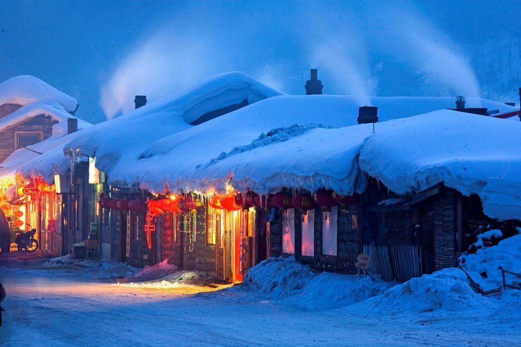 Enjoy the peaceful night of Harbin.
