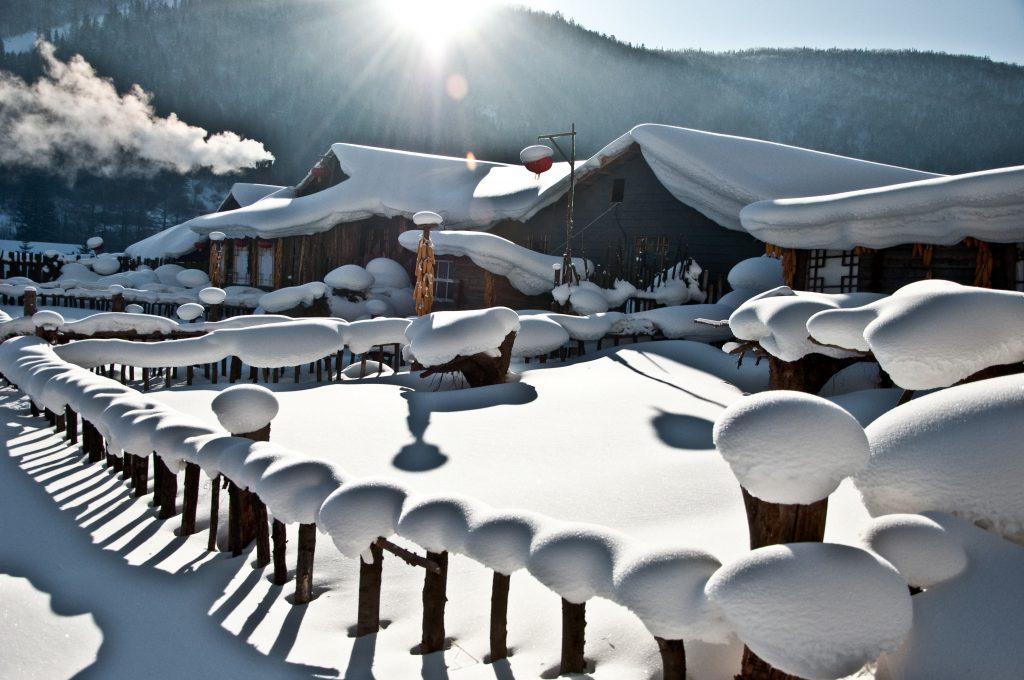The snow world under the sun.